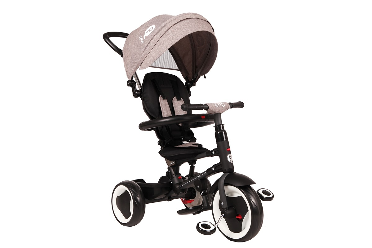 969d7ea3864 QPlay Rito 3 in 1 Compact Foldable Trike/Tricycle Child with Canopy and  Push Handle Bar