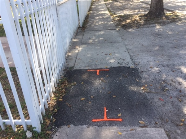 Sidewalk – Phase II - Before