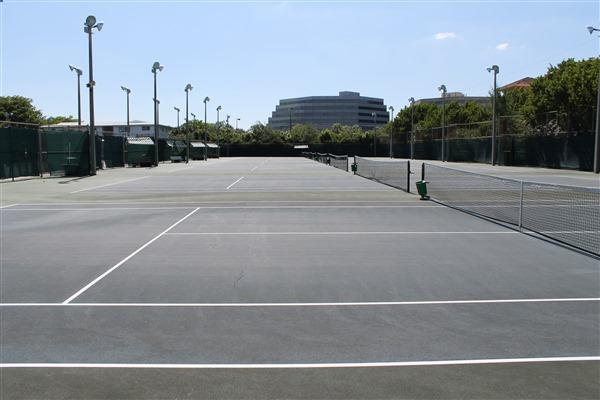 Sans Souci Tennis Center Court Resurfacing