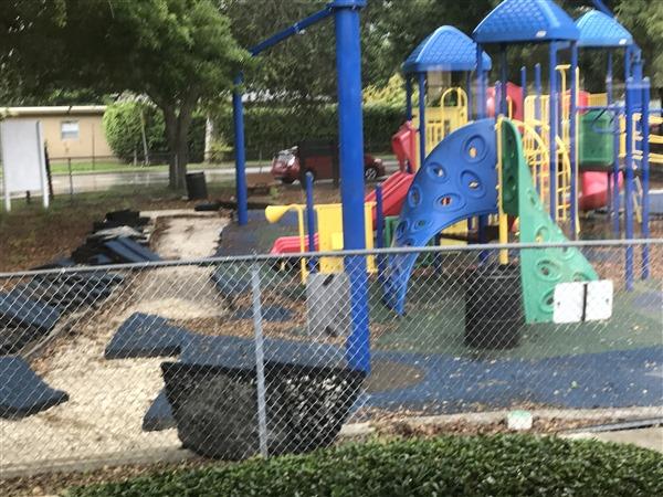 Keystone Park Playground Resurfacing - Before