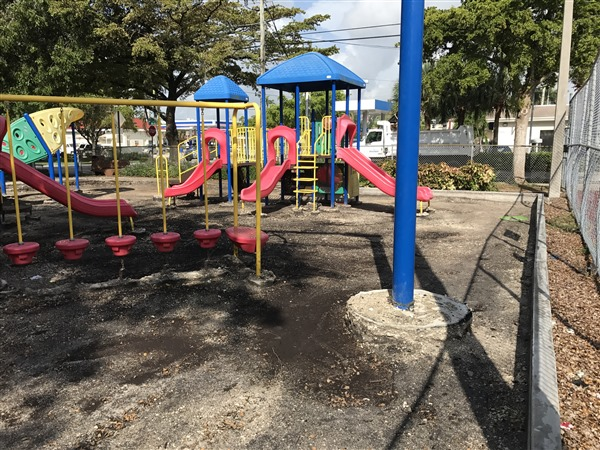Keystone Park Playground Resurfacing- In Progress