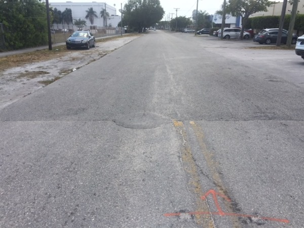 Roadway Resurfacing – Before