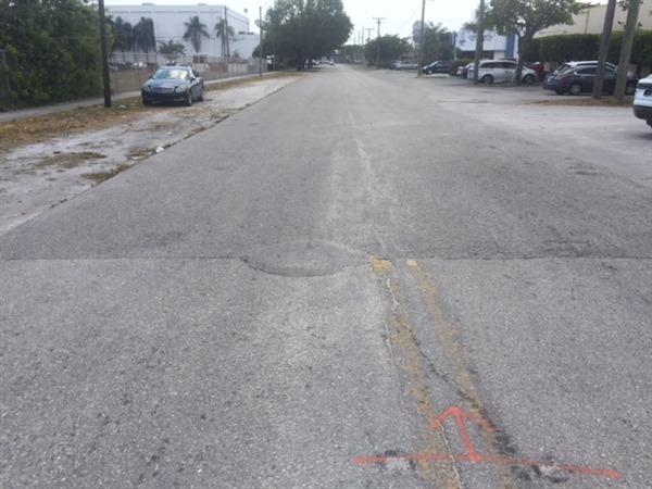Roadway Resurfacing – Before