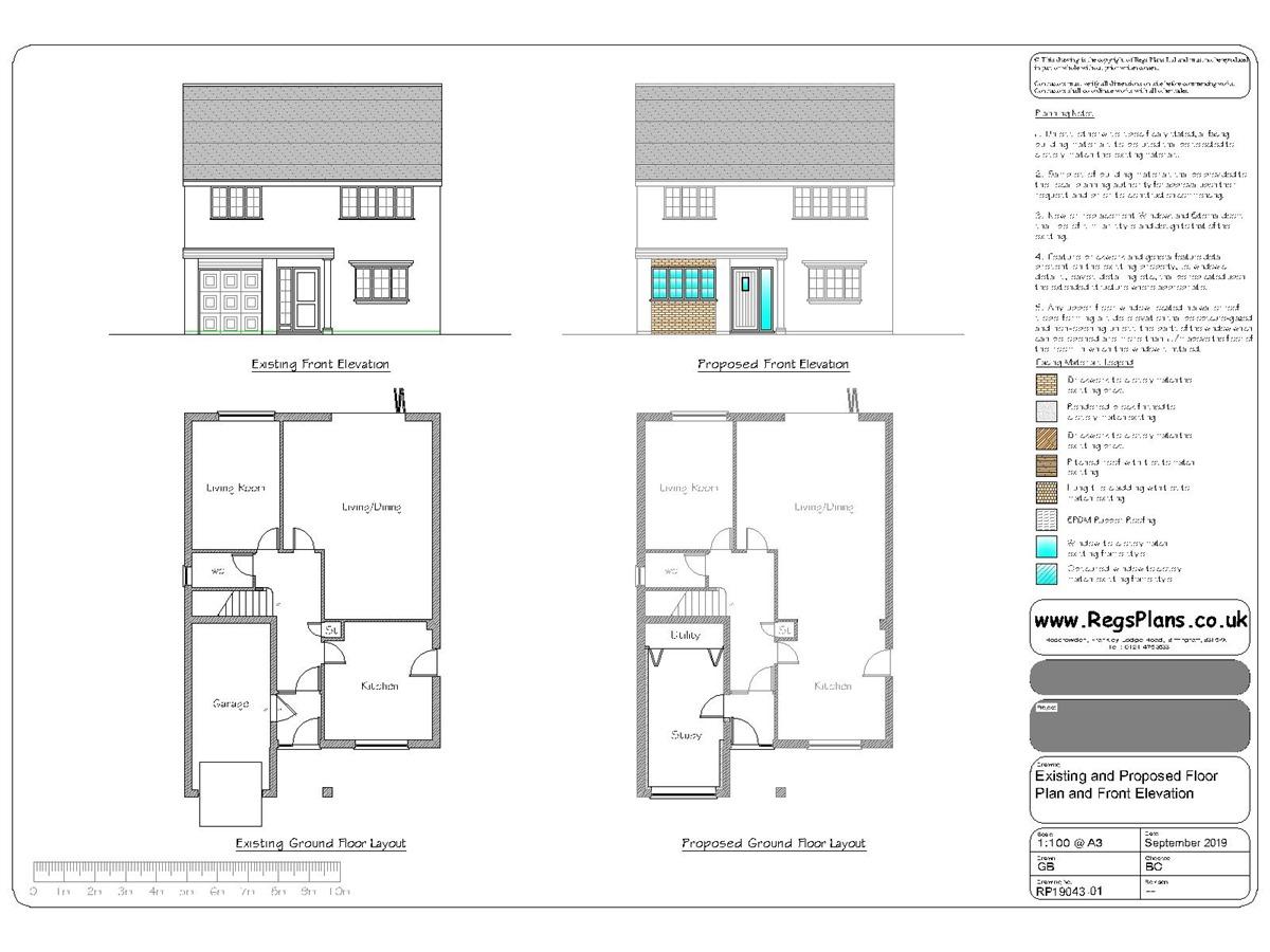 Garage Conversion Planning Drawings