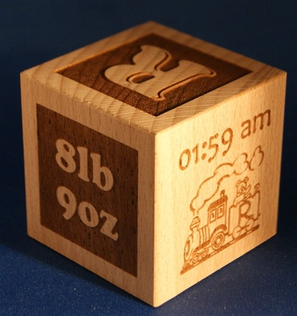 Engraved wooden cubes 84