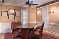 Formal conference room: If there are papers needing signing or just a more formal discussion, this is where we'll be.