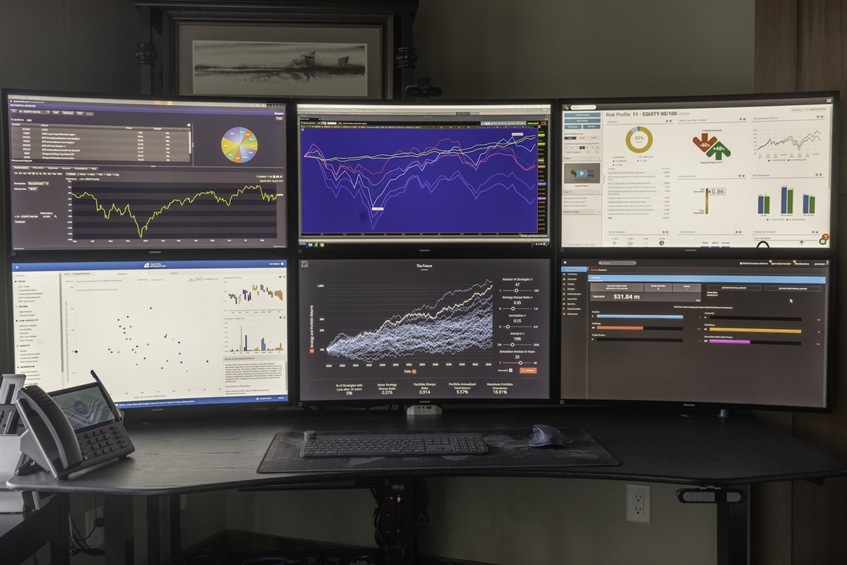 Command Center: This is where the heart of Encompass lives. From here we watch global and national markets and track every detail about your portfolio and how it relates to the future you envision.