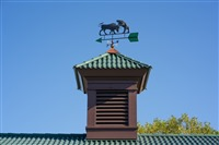 Top of the world: At the top of our compound sits a bull and a bear. What else would you expect?