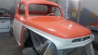Studebaker Truck Cab painted and headliner installed